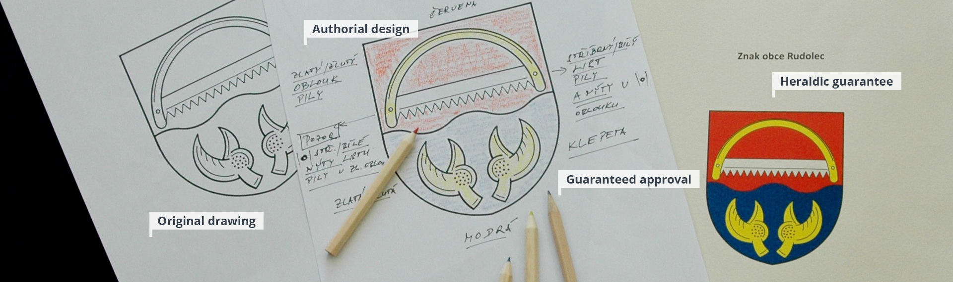 Municipal heraldry designs