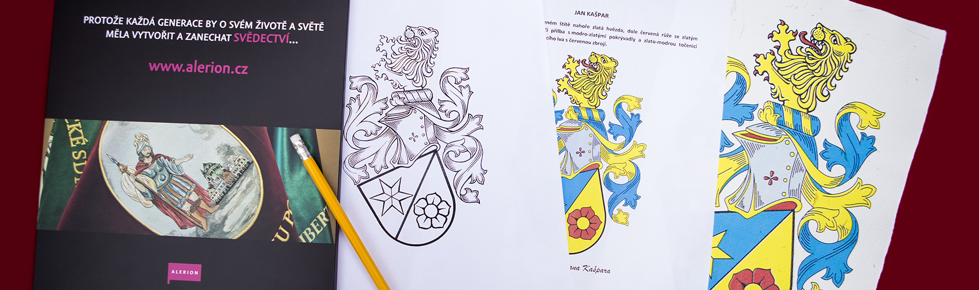 The designing of a personal and a family coat of arms