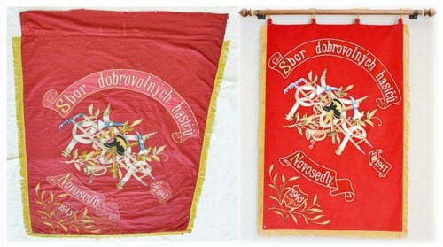 Replica of the historical banner of Volunteer Fire Brigade (SDH) Novosedly
