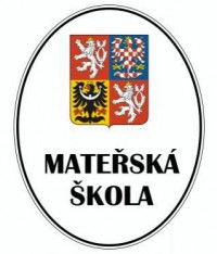 Enamel oval sign with the greater coat of arms of the Czech Republic and the name of an institution
