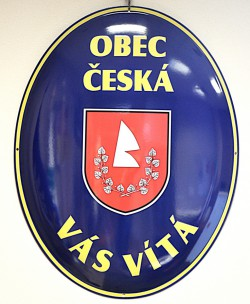 Enamel oval welcome sign