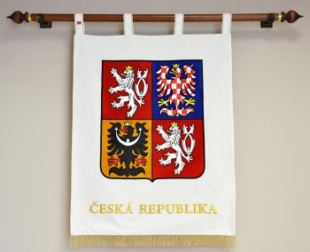 Embroidered greater coat of arms of the Czech Republic in a large version
