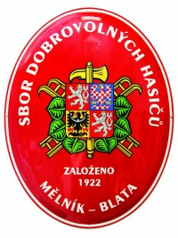 Enamel oval sign for fire stations with the coat of arms of the SH ČMS