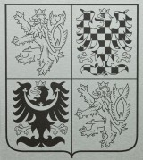 The greater coat of arms of the Czech Republic made of aluminum sheets (dibond)