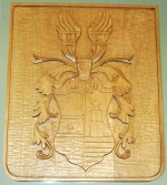 Hand-carved personal coat of arms