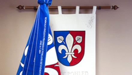 Embroidered and printed banners, flags, banners of arms and ribbons