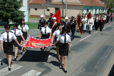 Blessing of the new banner, Volunteer Fire Brigade (SDH) Blučina