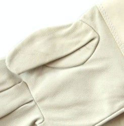 Close-up of the leather gloves