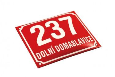 Enamel building registration number sign