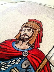 Making of an embroidered banner