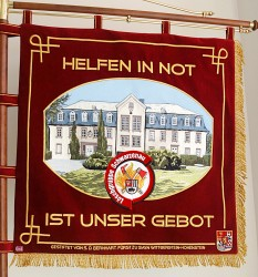 Embroidered ceremonial fire brigade banner