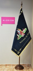 Embroidered banner for the Volunteer Fire Brigade (SDH) Podivín