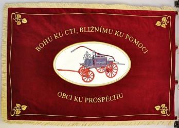 Embroidered banner of the Volunteer Fire Brigade (SDH) Světlá