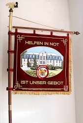 Embroidered fire brigade banner