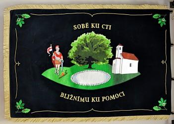 Fire brigade banner of the Volunteer Fire Brigade (SDH) Lhota