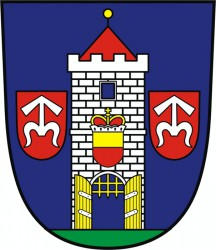 A draft of a coat of arms for Moravský Krumlov
