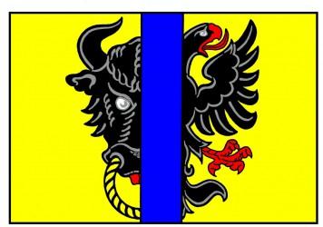 The flag of Bystřice nad Pernštejnem