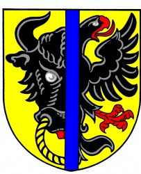 The coat of arms of Bystřice nad Pernštejnem