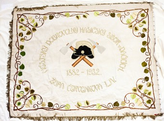 The original historical banner, Volunteer Fire Brigade (SDH) Dačice