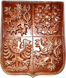 Ceramic greater coat of arms of the Czech Republic
