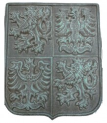 Ceramic greater coat of arms of the Czech Republic (earthenware)