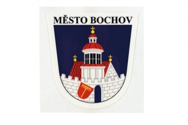 Patches with a name and a coat of arms of a village, town, township