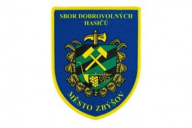Shoulder patch for the Volunteer Fire Brigade (SDH) Zbýšov