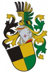 An example of a personal heraldic achievement