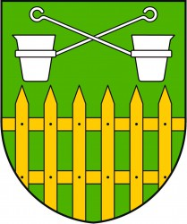 The coat of arms of Obůrky