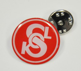 Custom-made lapel pin (Sokol)
