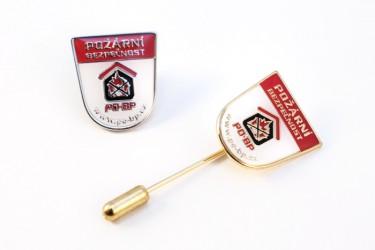Lapel pins made for Požární bezpečnost s.r.o. (fire safety)