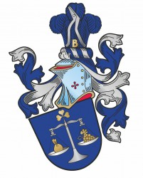 Personal heraldic achievement of Mr. Jindřich Klusoň