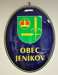 Enamel oval sign for Jeníkov