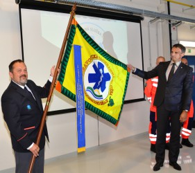 Introducing the banner of the Emergency Medical Services of the South Moravian Region (ZZS JmK)
