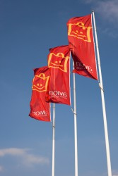 Promotional flags for AVION
