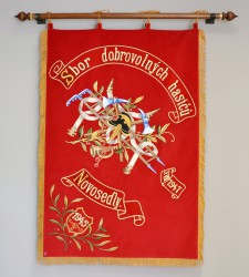 Historical banner replica, Volunteer Fire Brigade (SDH) Novosedly