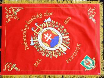 Banner replica, Volunteer Fire Brigade (DHZ) Pezinok