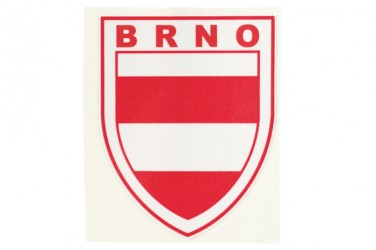 Custom-made sticker with a coat of arms and a name of a city