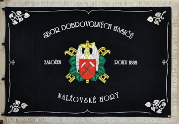 Embroidered banner of the Volunteer Fire Brigade (SDH) Nalžovské Hory