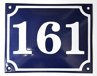 Enamel house number