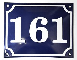 Enamel house number