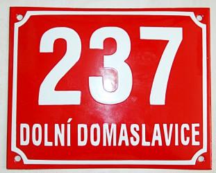 Enamel building registration number