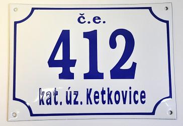 Custom-made house numbers