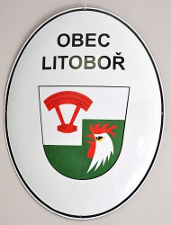 Enamel oval sign for Litoboř