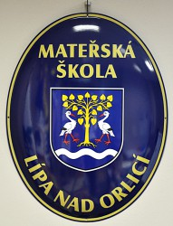 Enamel oval signs used for buildings (kindergarten)
