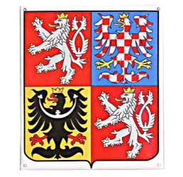 Enamel coat of arms of the Czech Republic