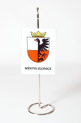 Table flag made for the township of Zlonice