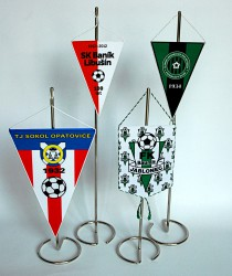 Table flags for sports clubs