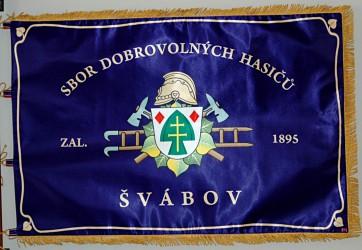 Printed banner of the Volunteer Fire Brigade (SDH) Švábov