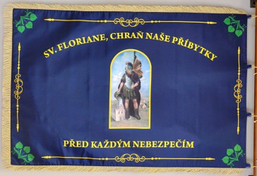 Printed banner of the Volunteer Fire Brigade (SDH) Pěčnov